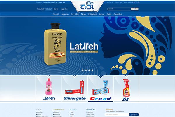 طراحی وب سایت شرکت آرایشی و بهداشتی پاکرخ یکی از شرکت های مطرح در صنعت لوازم آرایشی و بهداشتی در سطح منطقه و دارای برندهای شناخته شده لطیفه، کرند، ژیکس، سیلورگیت؛ توسط برآیند تجربه به اتمام رسید. در این خصوص شرکت برآیند، با به کار گیری نیروی متخصص و کارآزموده خود طراحی وب سایت سه زبانه فارسی، انگلیسی، ترکی را به اتمام رساند تا مشتریان بتوانند به آسانی با محصولات این شرکت و اطلاعات تکمیلی در خصوص در هر محصول آشنایی های لازم را به دست آورند.